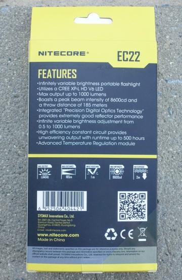 Nitecore EC22 Flashlight Review CivilGear 001